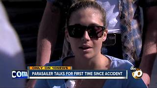 Parasailer talks for first time since accident - Video