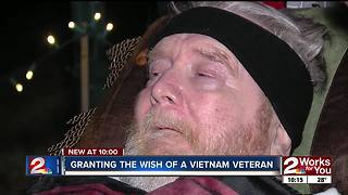 Vietnam veteran gets his wish granted in Muskogee - Video