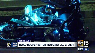 PD: Motorcyclist in critical condition after crash in Glendale