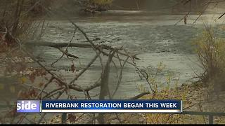 Crews begin greenbelt riverbank restoration - Video