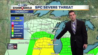Stormy, windy, and cooler Thursday into Friday - Video