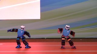 Funky robots make debut at Hong Kong Electronic Show - Video
