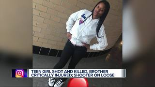 14-year-old girl killed, brother injured in Detroit shooting - Video
