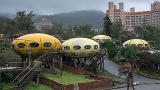 This Eerie Ghost Town Has Houses Shaped Like UFOs - Video