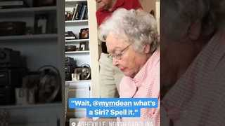 Grandparents Discover Siri for the First Time - Video