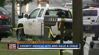 Toddler hit, killed by county vehicle after running into Pasco County roadway - Video