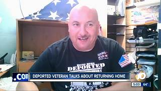 Deported veteran talks about returning to the U.S. - Video