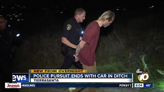Driver arrested after pursuit ends in Tierrasanta