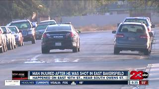 Man injured after he was shot in East Bakersfield - Video