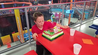 Boy has Best Reaction to Trick Candles on his Cake