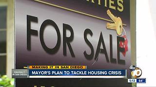 Making It In San Diego: Mayor's plan to tackle housing crisis - Video