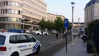 Police Secure Perimeter Around Centraal Station Following Security Incident in Brussels - Video