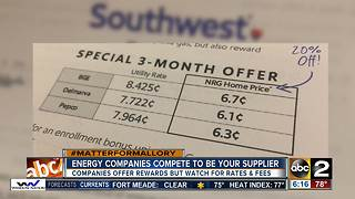 Energy suppliers competing for your business - Video
