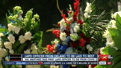 Burial service for LAPD officer from Delano who died of COVID-19