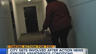City gets involved with unsafe apartment building - Video