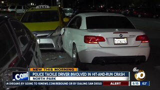 Police chased down driver tied to North Park hit-and-run