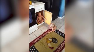 Tot Twins Play Hide And Seek But With A Twist