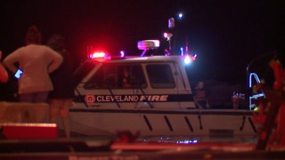 Coast Guard, local fire departments actively search for two missing fishermen at Edgewater - Video