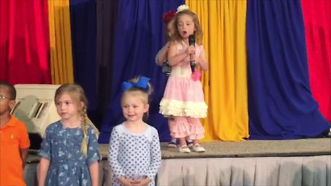 Adorable Girls Love Being In The Spotlight