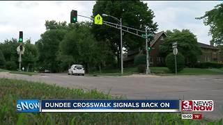 Dundee crosswalk signals back on - Video