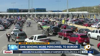 Homeland Security sending more personnel to border