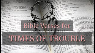 Bible Verses in TIMES OF TROUBLE // Bible verses for Troubled Times