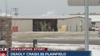 One dead after vehicle hits Plainfield Correctional Facility building after possible medical issue - Video
