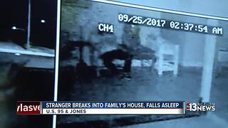 Las Vegas family finds stranger asleep in home - Video