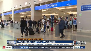 Local TSA agents help each other during government shutdown