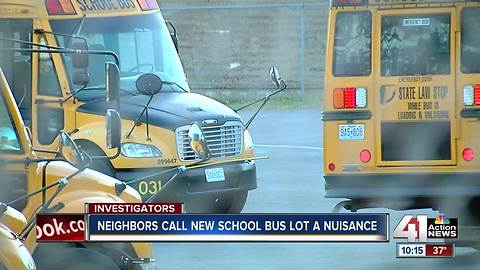 Neighbors call new school bus lot a nuisance