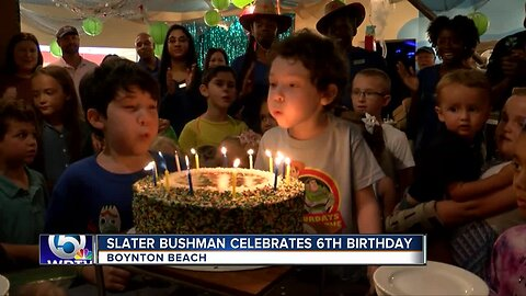Slater Bushman celebrates 6th birthday in Boynton Beach