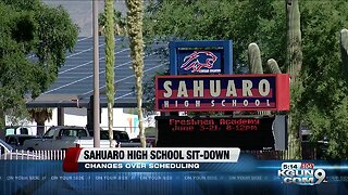 Sahuaro high school students held sit-down due to schedule changes