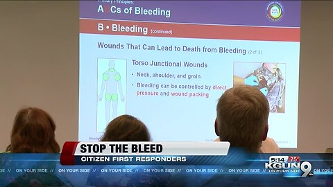 'Stop the Bleed' event offers lifesaving training to anyone willing to learn