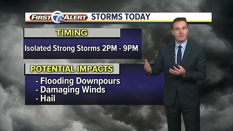 Metro Detroit Forecast: Afternoon and evening storms
