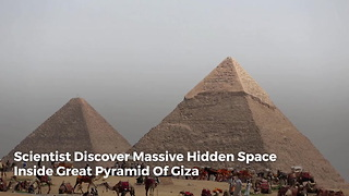 Scientist Discover Massive Hidden Space Inside Great Pyramid Of Giza - Video