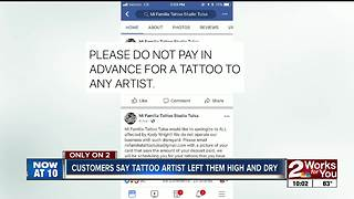 Customers claim scammed by local tattoo artist