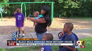 Mold contamination in homeless shelter made six children sick, mother says - Video