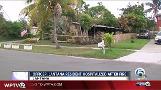 1 person rescued from Lantana house fire early Saturday