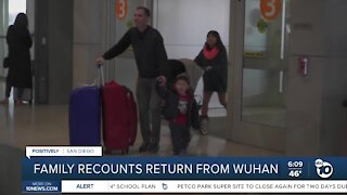 Family recounts return from Wuhan