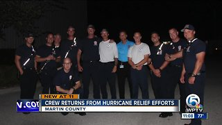 Martin County Fire Rescue crew returns home after Hurricane Michael relief efforts