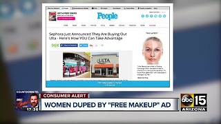 Viral Facebook post promises free makeup - Video