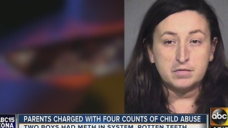 Two kids found with meth in their system, parents arrested - Video