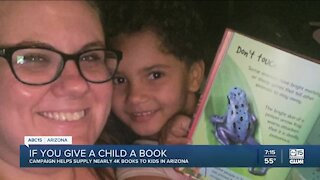 'If You Give A Child A Book' campaign raises more than $11,000 for kids in Arizona
