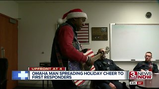 Omaha man spreads holiday cheer to first responders