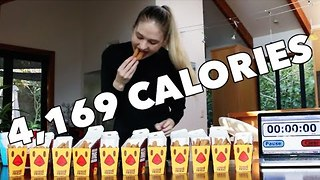Extreme Eater Tackles 100 Chicken Fries Challenge - Video