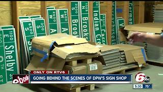 Behind the scenes: How street signs are made in Indianapolis - Video