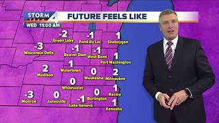 Sunny and windy Wednesday, highs in the 20s - Video