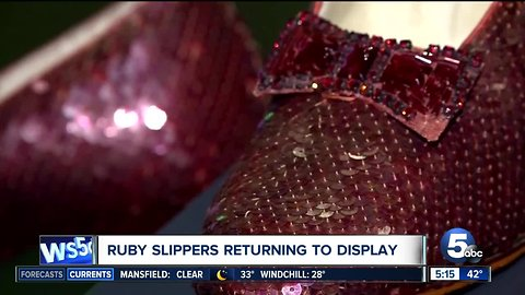 Dorothy's ruby slippers come home