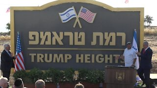 Israeli PM Benjamin Netanyahu Unveils Town Named After Donald Trump In The Golan Heights
