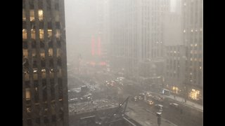 Timelapse Shows Snow Squall Blanketing Midtown Manhattan
